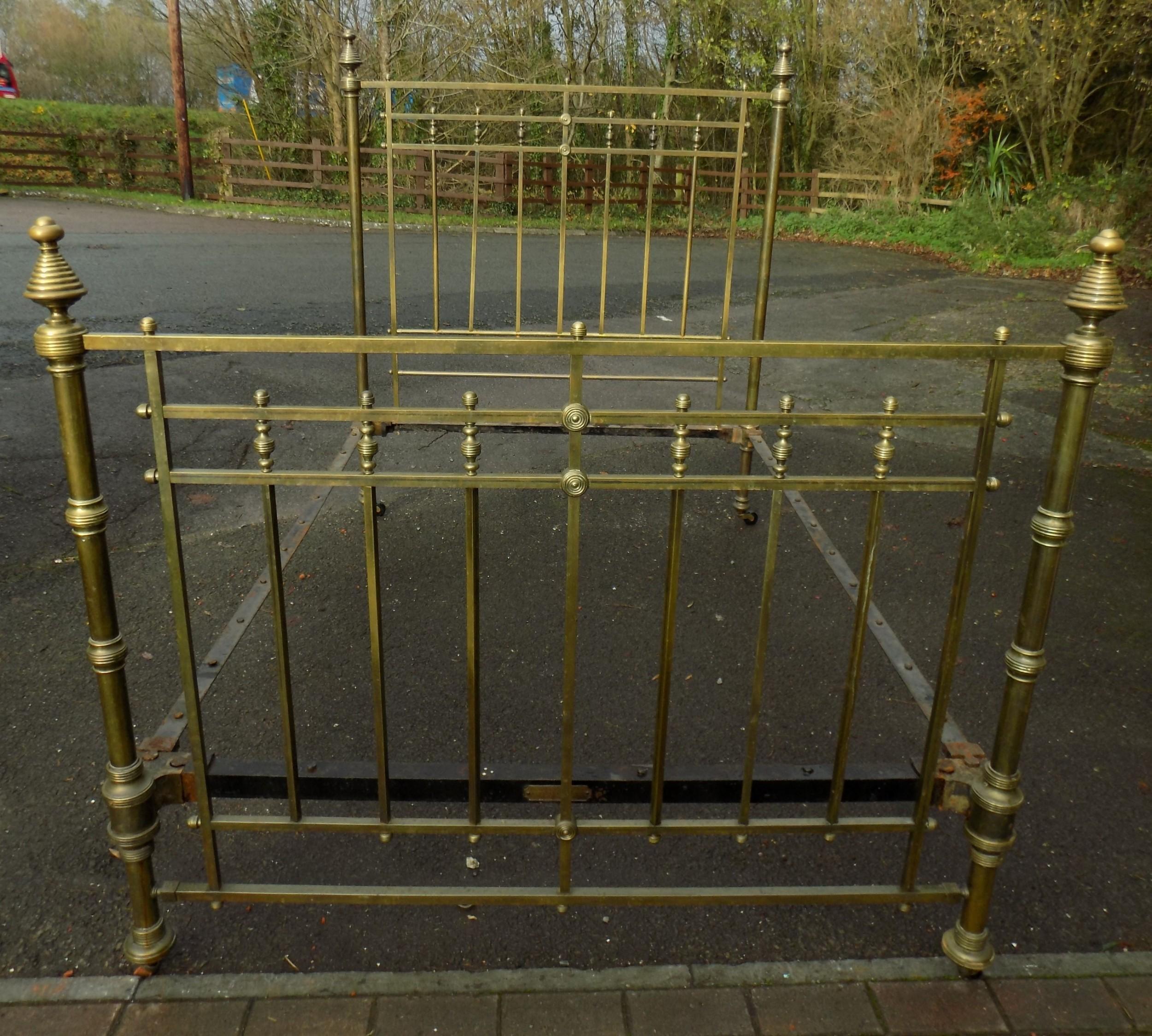 victorian brass bedstead