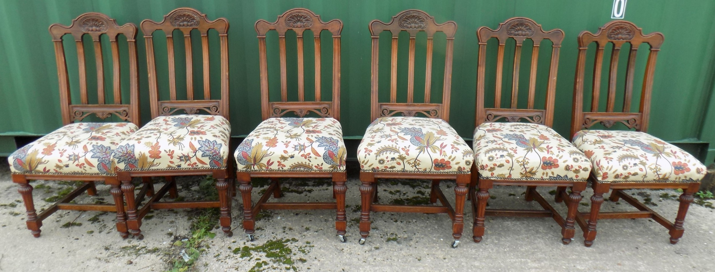 edwardian set of six mahogany chairs