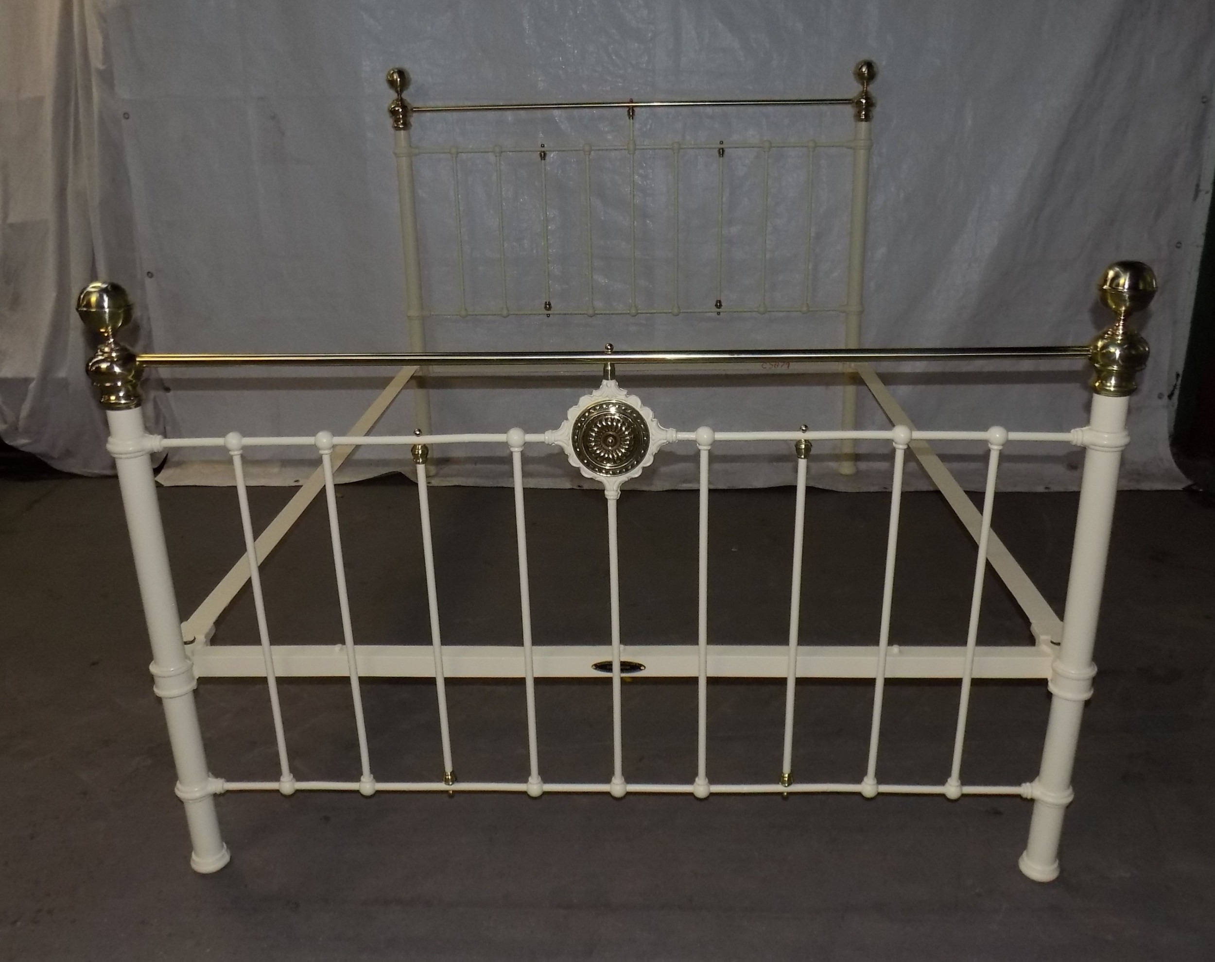 king size victorian brass and iron bedstead