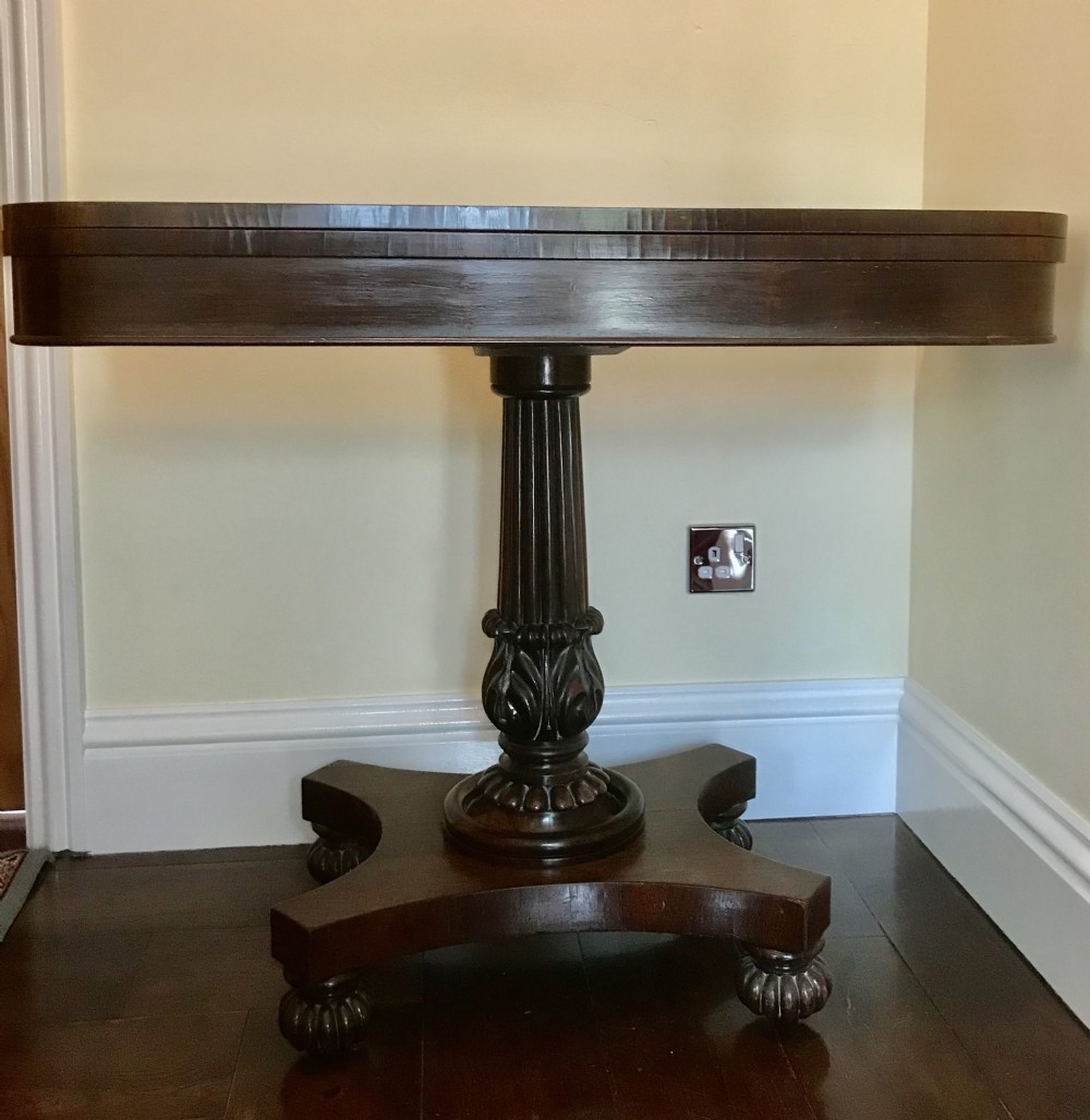 william 1v rosewood card table
