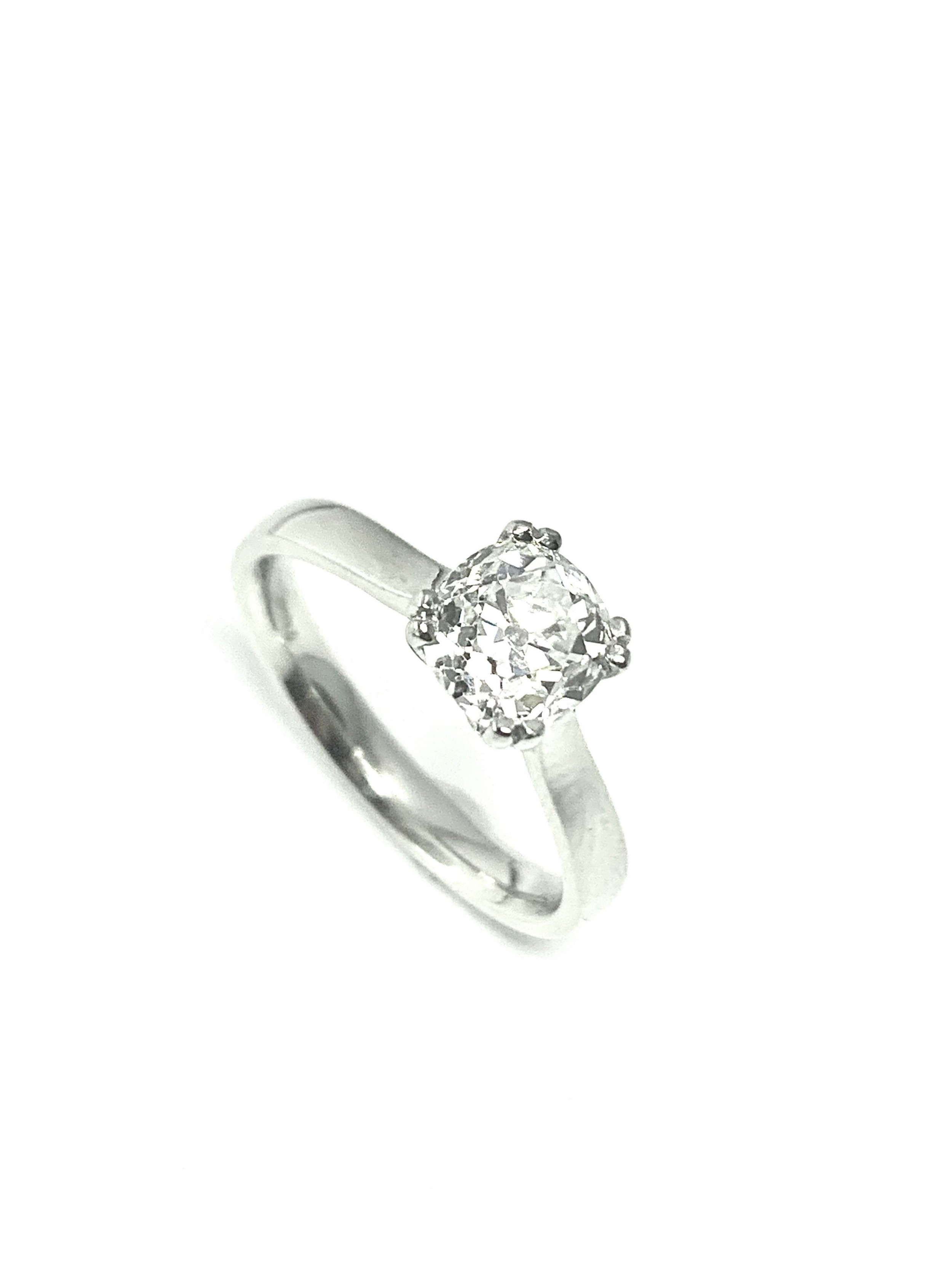 vintage old cut solitaire 123ct certified