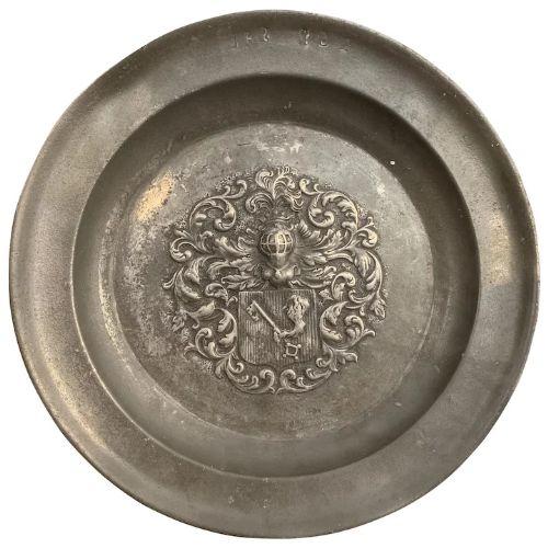 18th century pewter dish