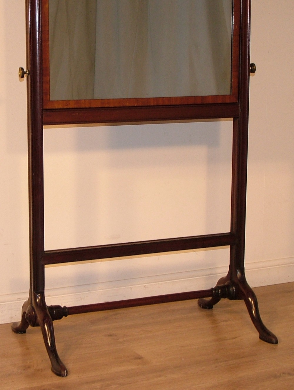 Antique victorian large tall vintage mahogany cheval for Tall bedroom mirror