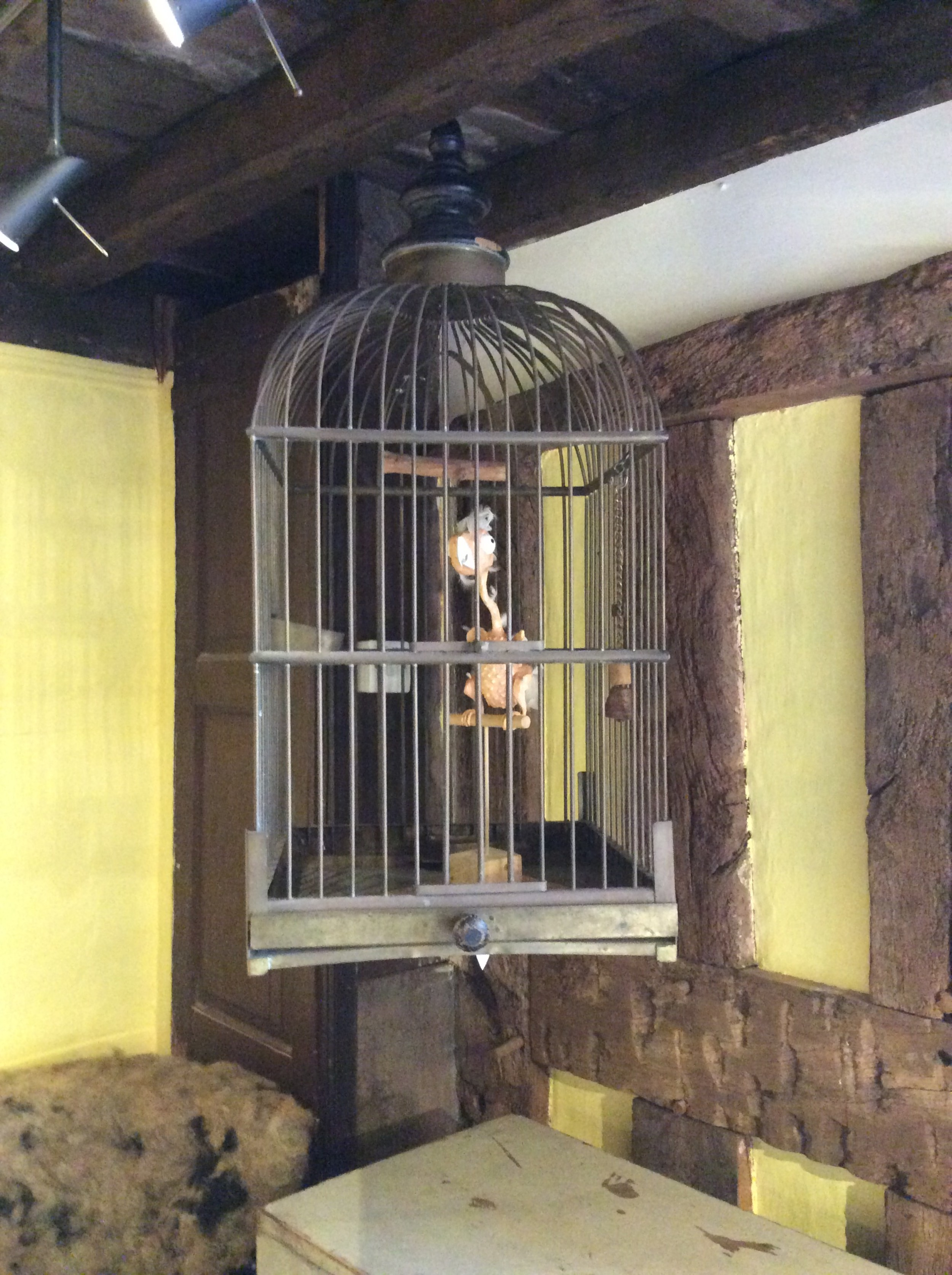 19th brass bird cage