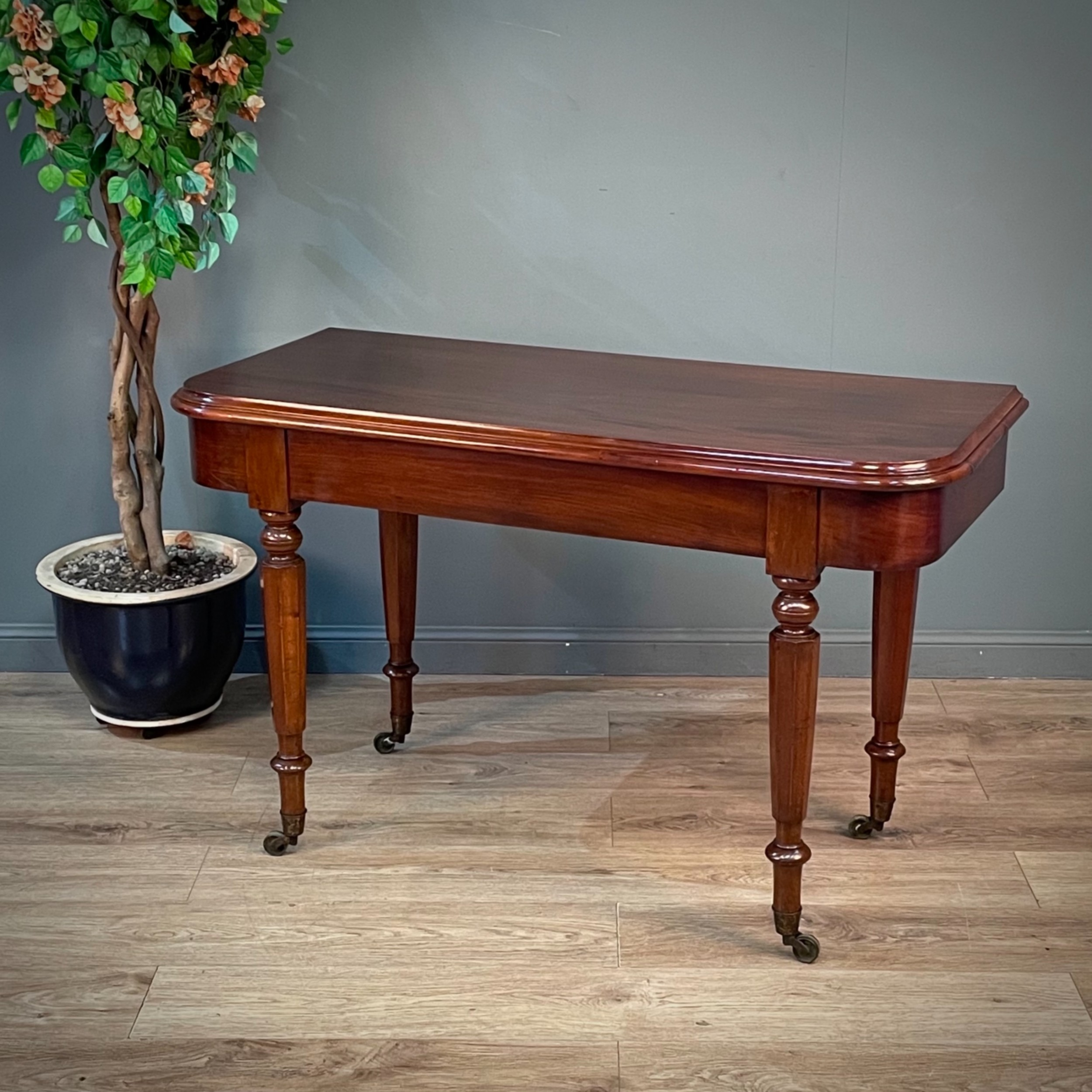 attractive large antique victorian mahogany side hall table