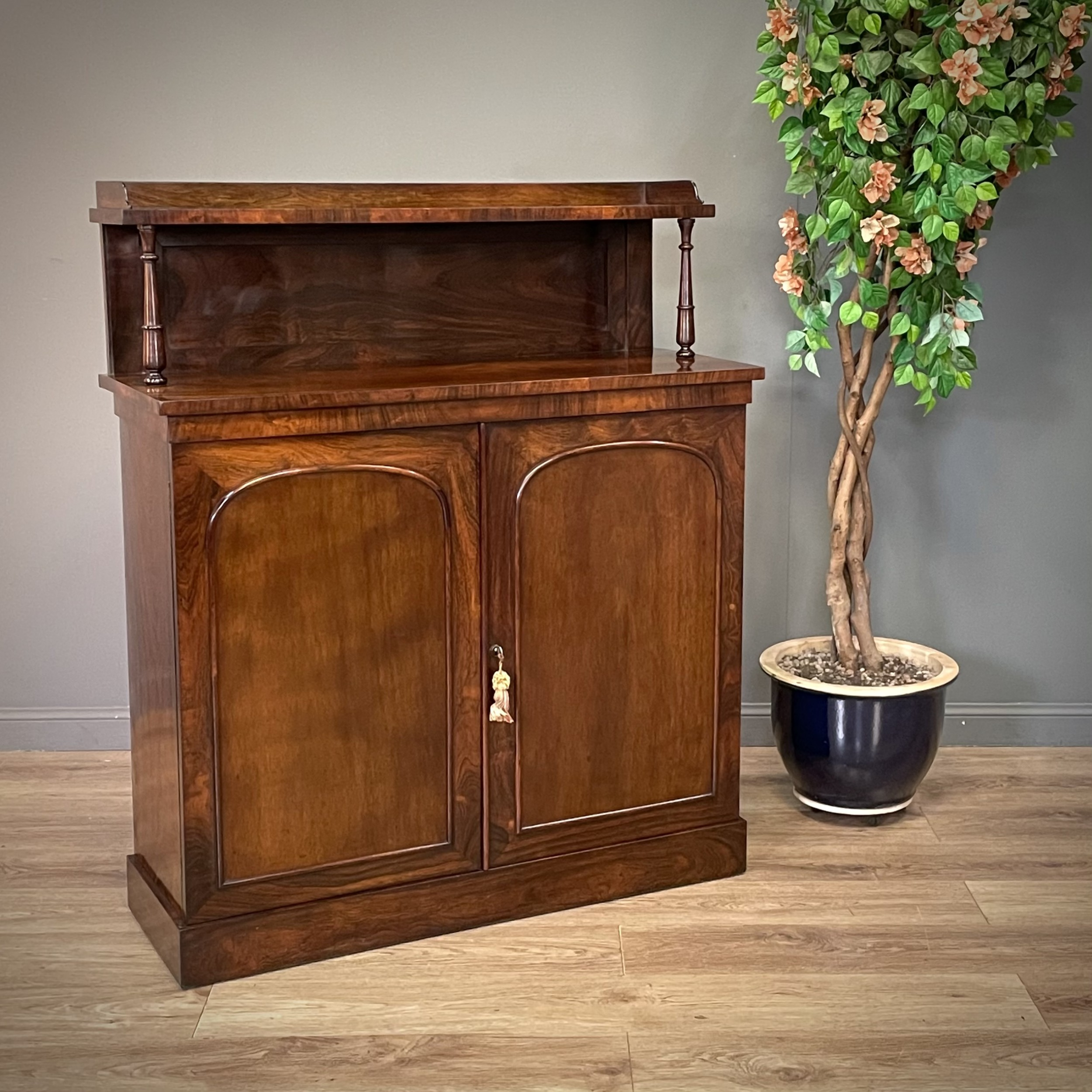attractive antique victorian rosewood chiffonier sideboard cabinet