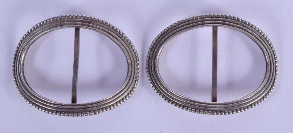 a pair of george iii silver buckles