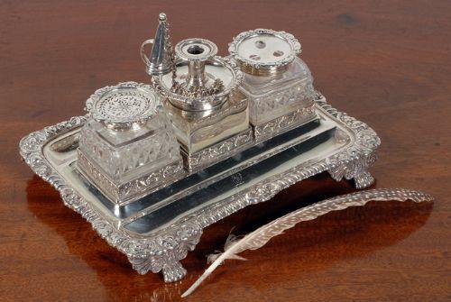 Antique Writing Sets - Antique Writing Sets - The UK's Largest Antiques  Website - Antique Desk - Antique Desk Sets Antique Furniture