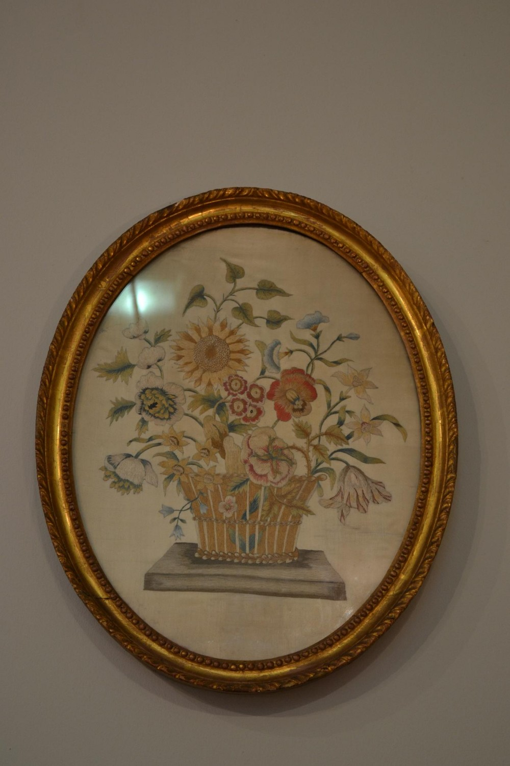 very good quality 18th century floral sampler