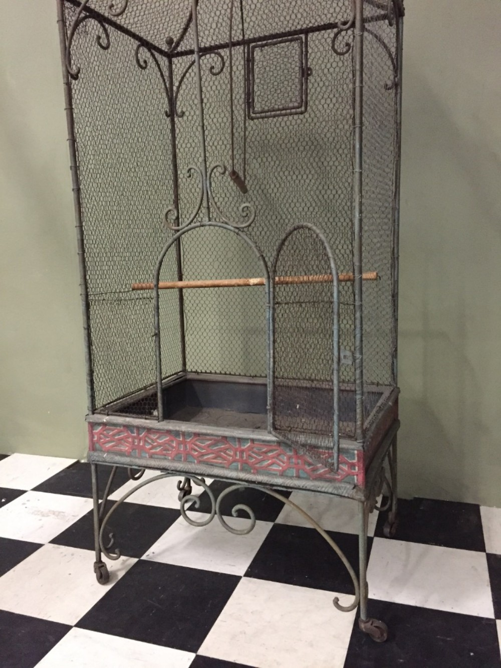 rare and unusual large decorative bird cage