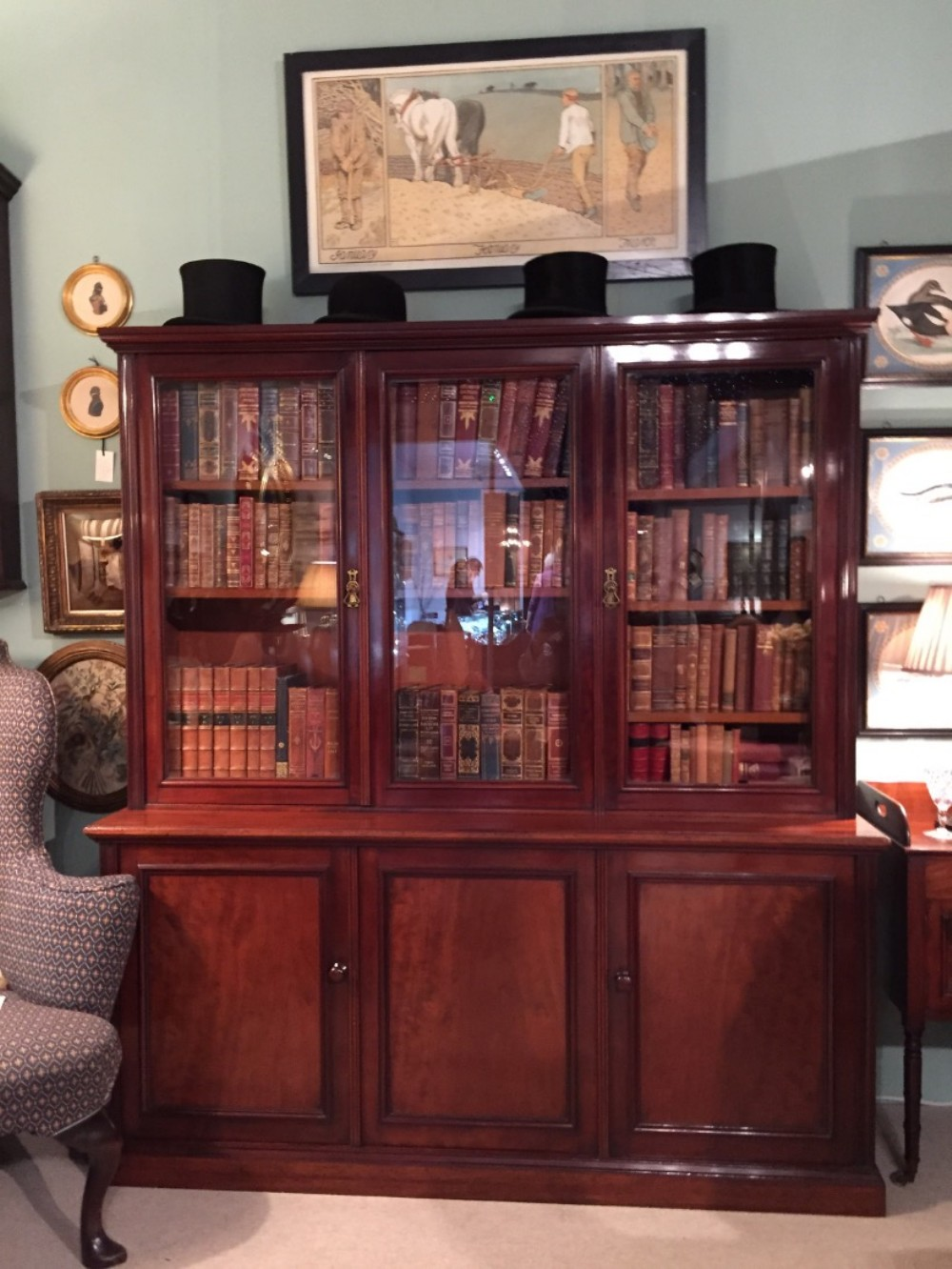 superb holland and sons bookcase
