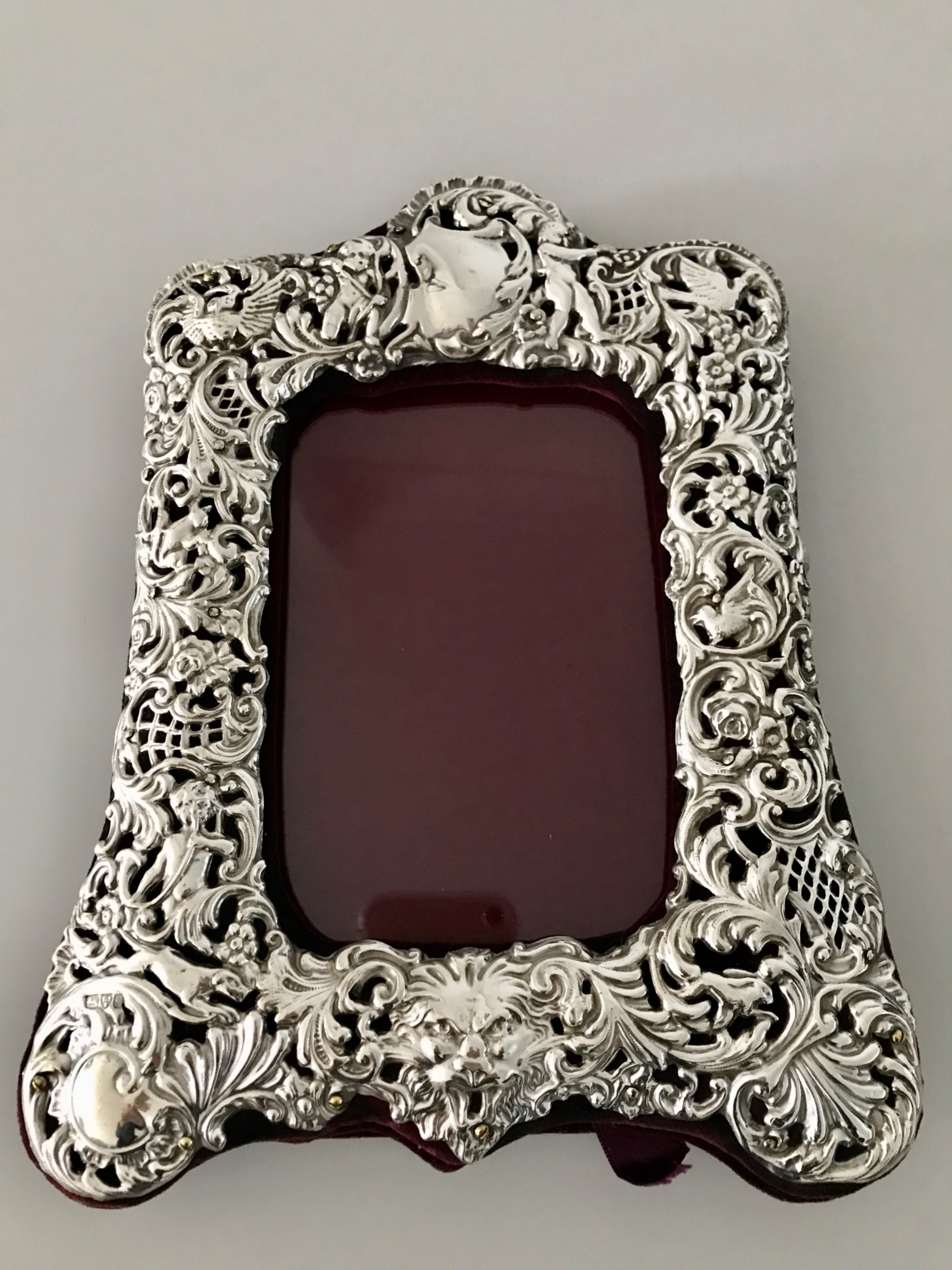 a stunning embossed silver photo frame hallmarked chester 1902