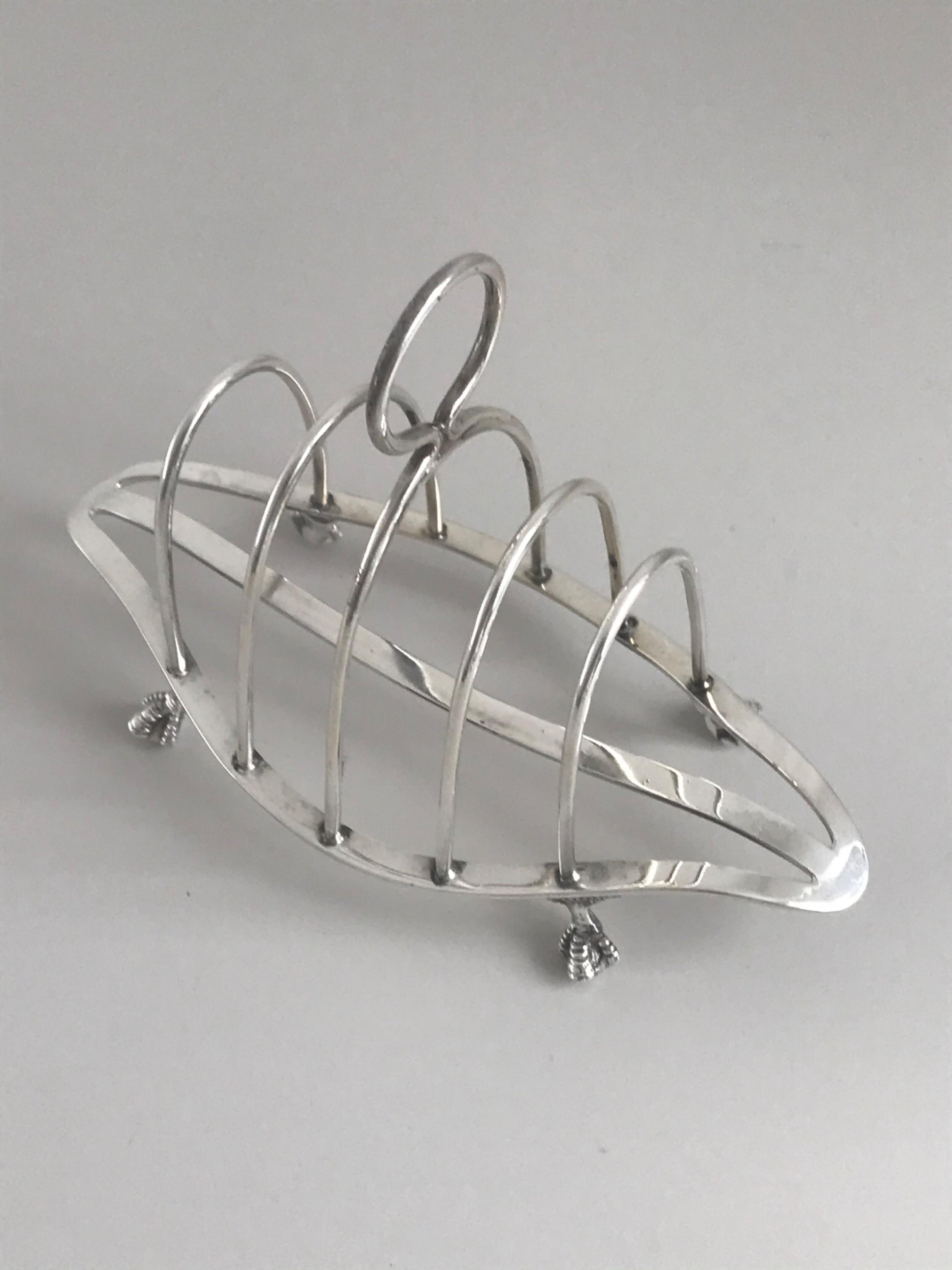 silver toast rack mappin brothers hallmarked london 1892