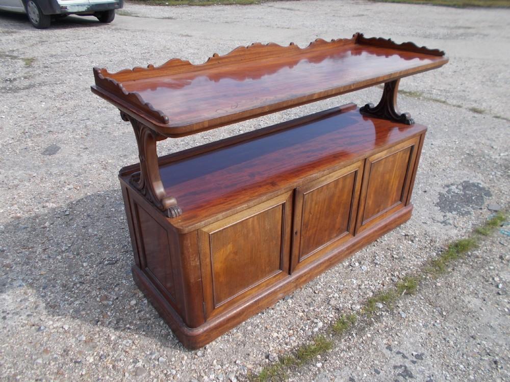 good mid19th century mahogany side cabinetbuffet