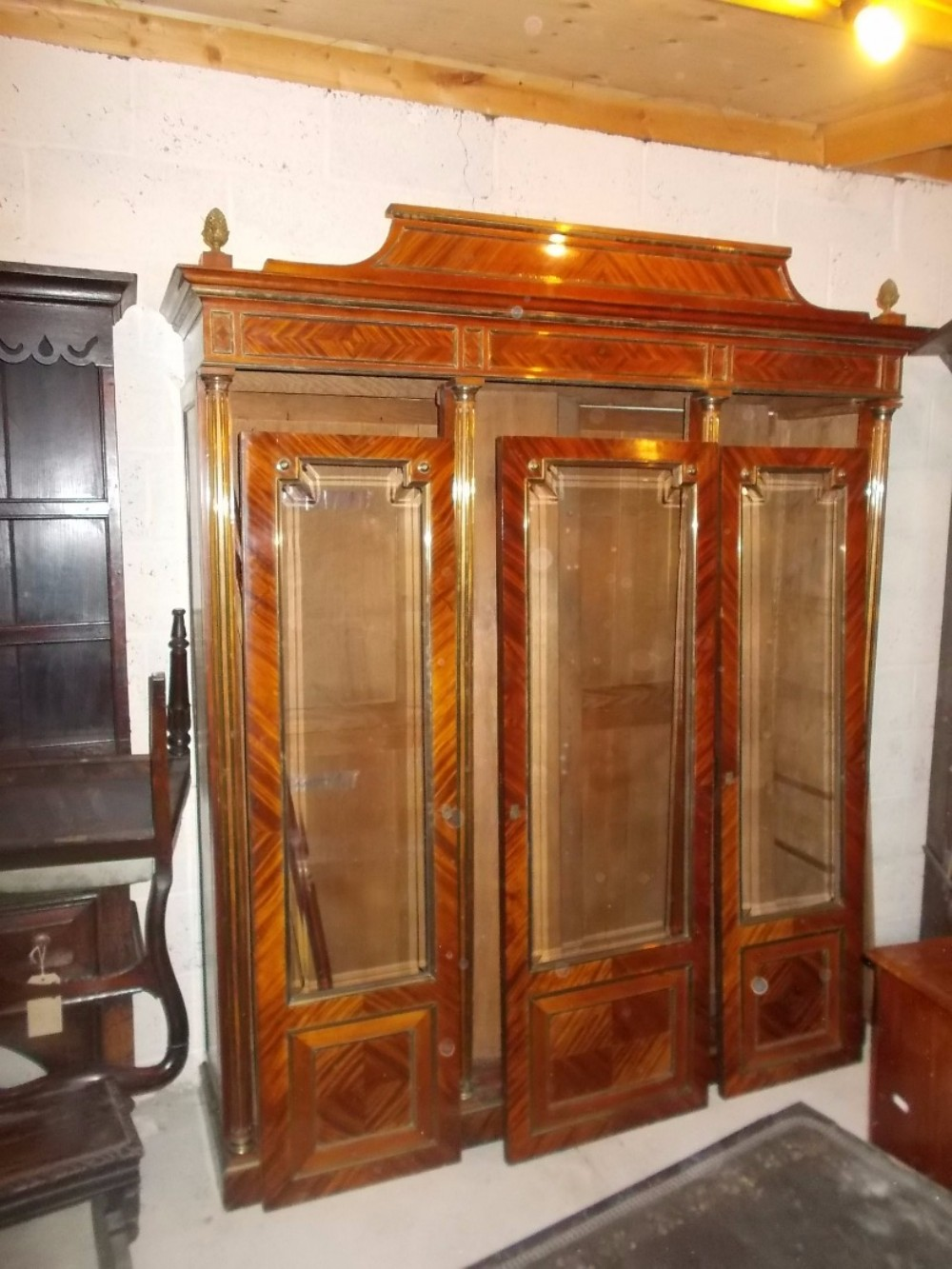 late 19th century brass mounted bookcase cabinet