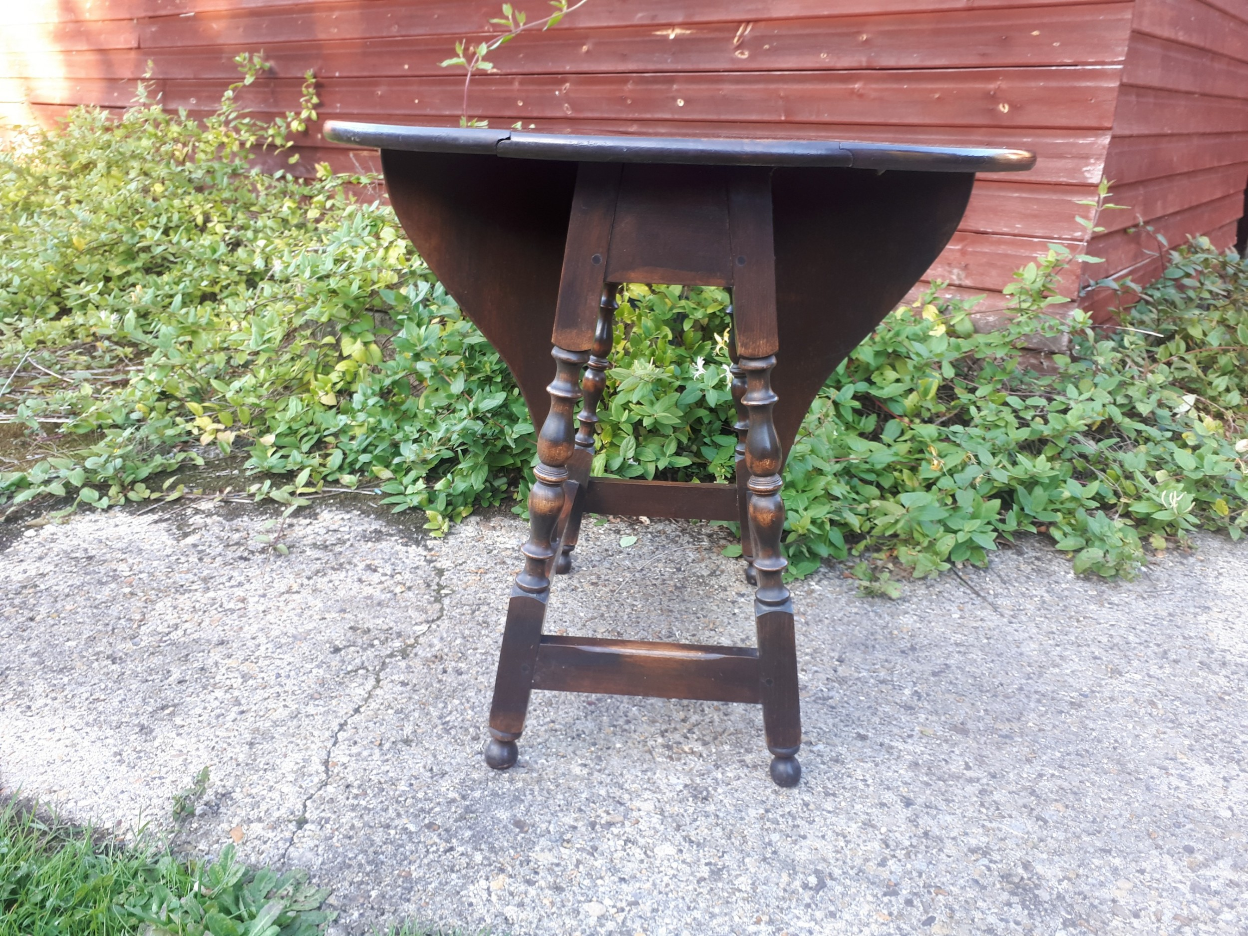 early 20th century small butterfly wing drop flap occasional table