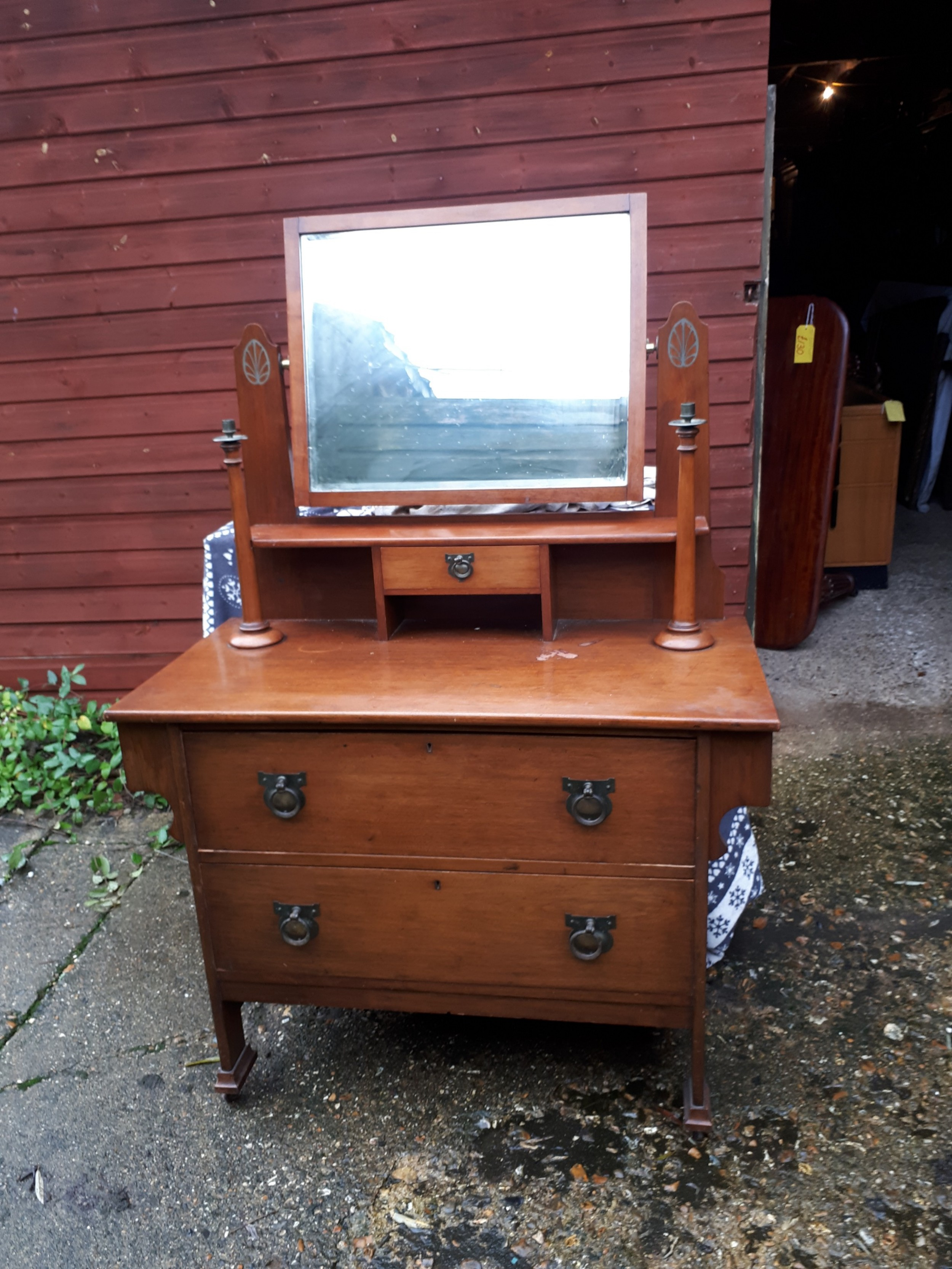 interesting edwardian arts and crafts dressing table