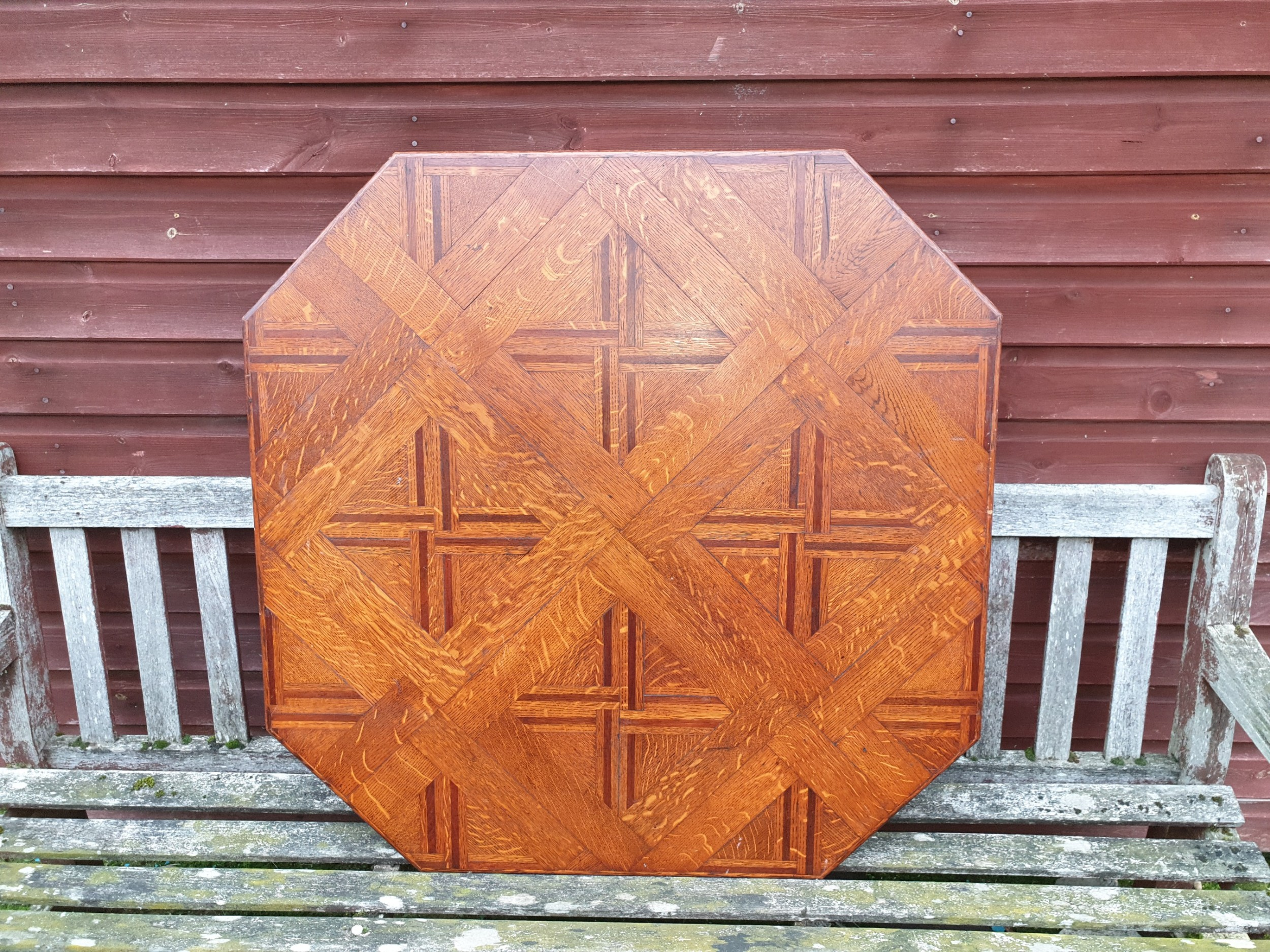 good 3 foot late 19th century parquetry table top