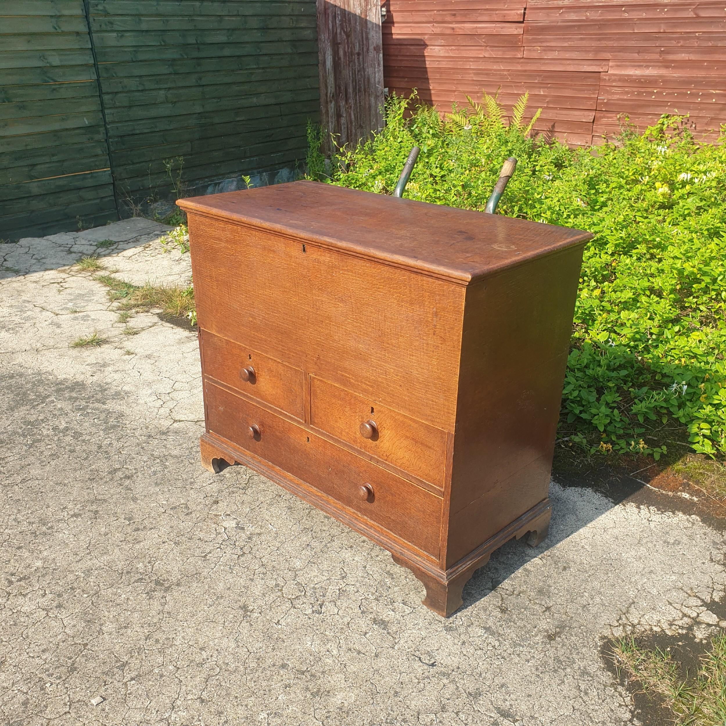regency oak blanketmule chest