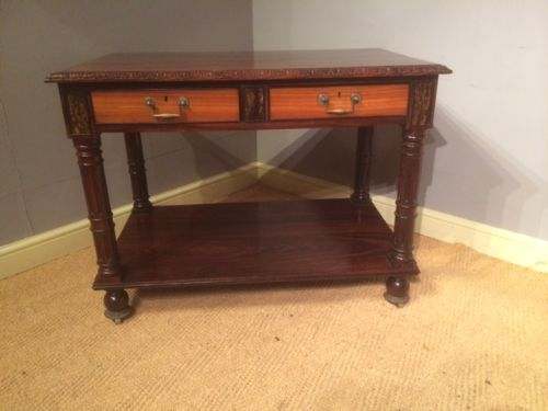 an exceptional quality indian rosewood satinwood ebony calamander centre library table