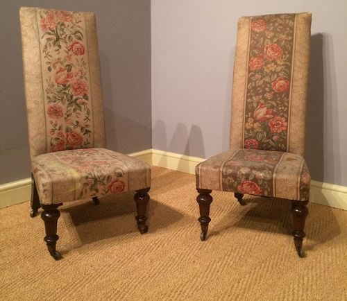 19thc pair of rosewood highbacked chairs