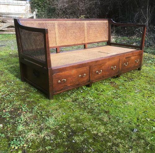 18thc mahogany campaign sofa