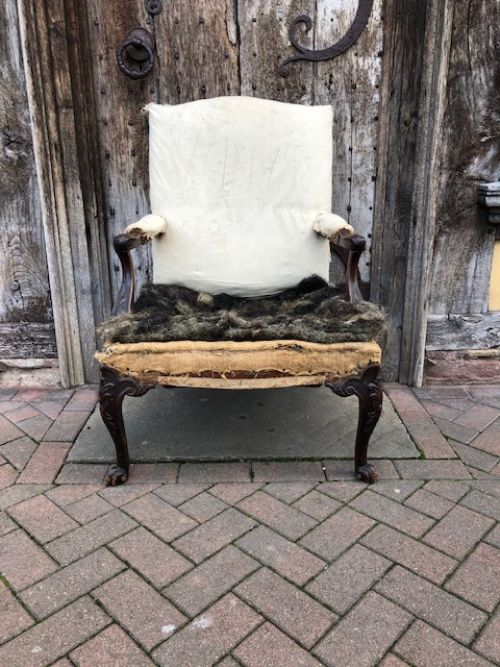 an 18thc mahogany gainsborough armchair