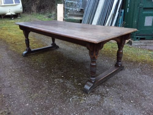 a 19thc oak refectory table
