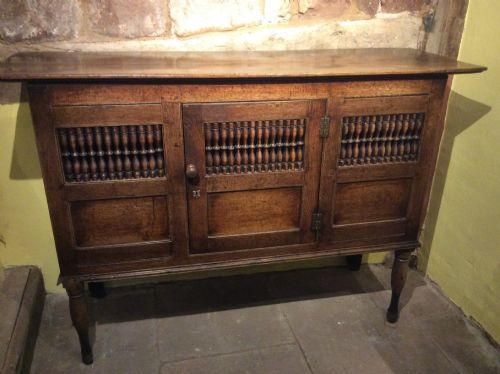 18th c welsh oak food cupboard with good colour and patination