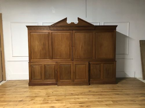an 18thc architectural mahogany estatehousekeepers cupboard