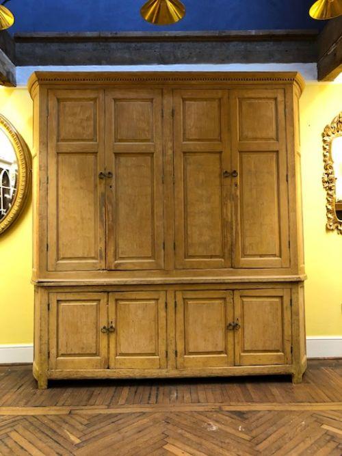 a wonderful 18th century dry scraped housekeepers cupboard