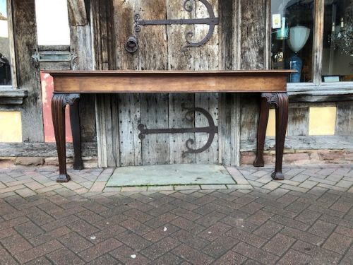 a very unusual and interesting 18th century english mahogany side table