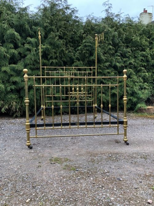 5ft heals of london half tester 19th century brass bed