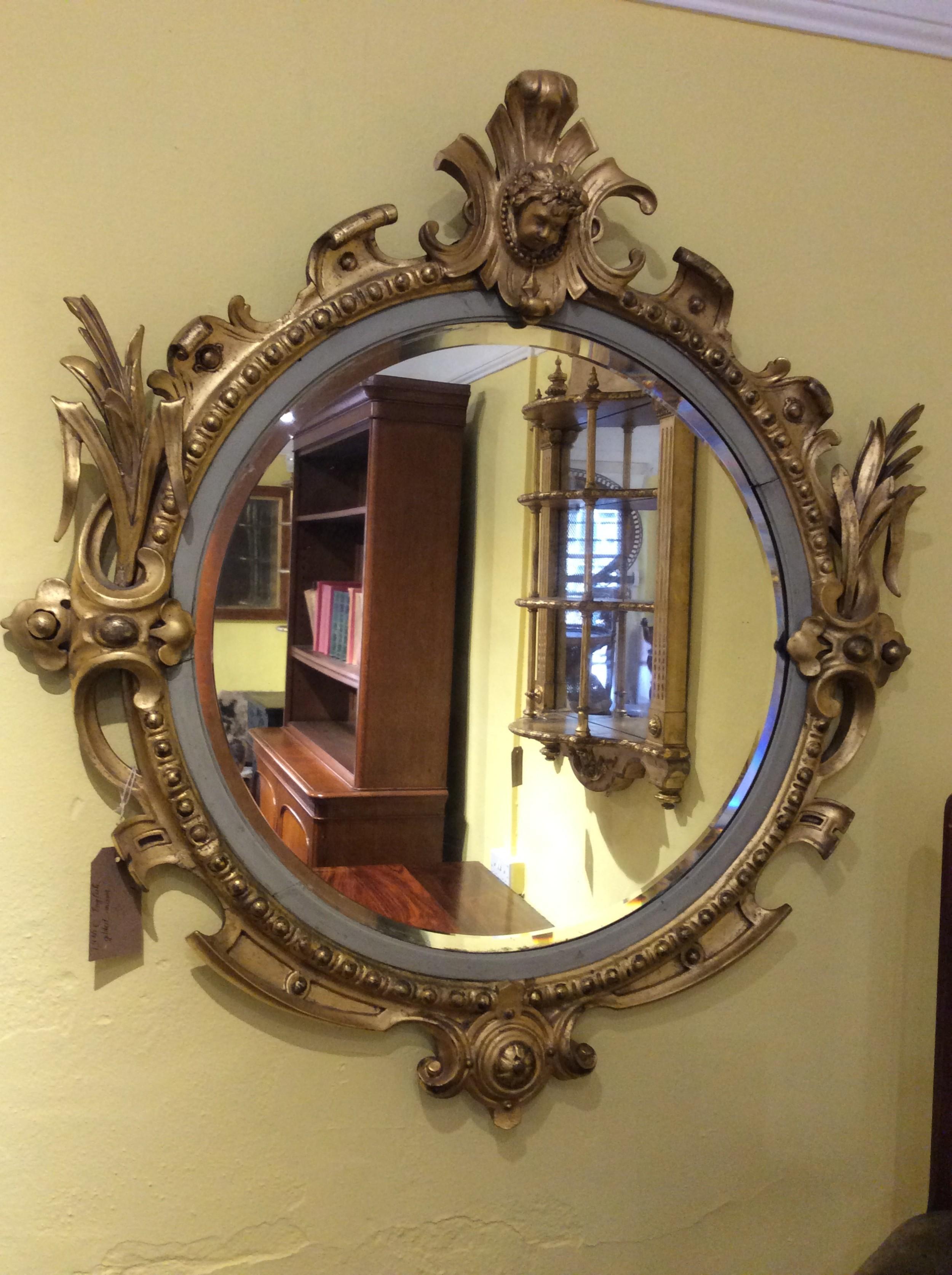 a 19thc english gilt mirror