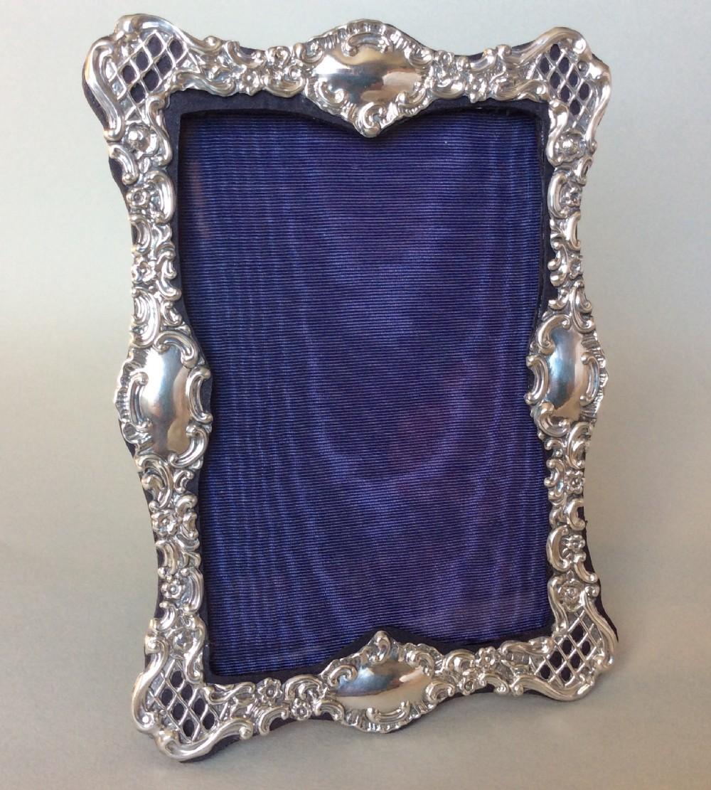 a victorian silver photo frame