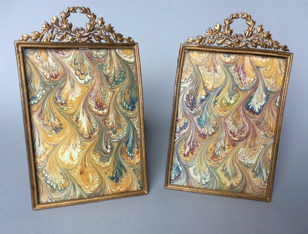 a pair of french empire photo frames c1900