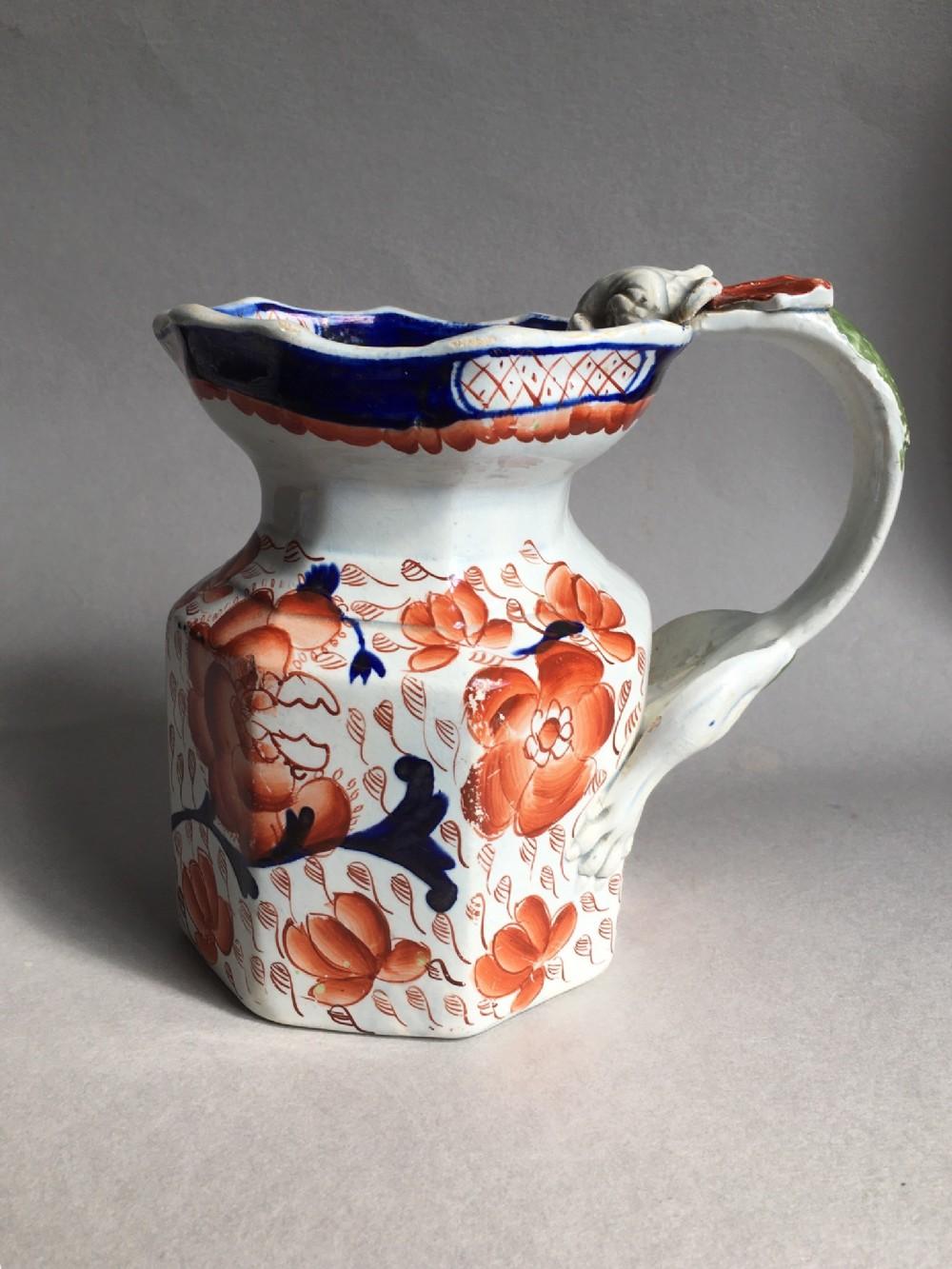 antique masons ironstone jug c1860