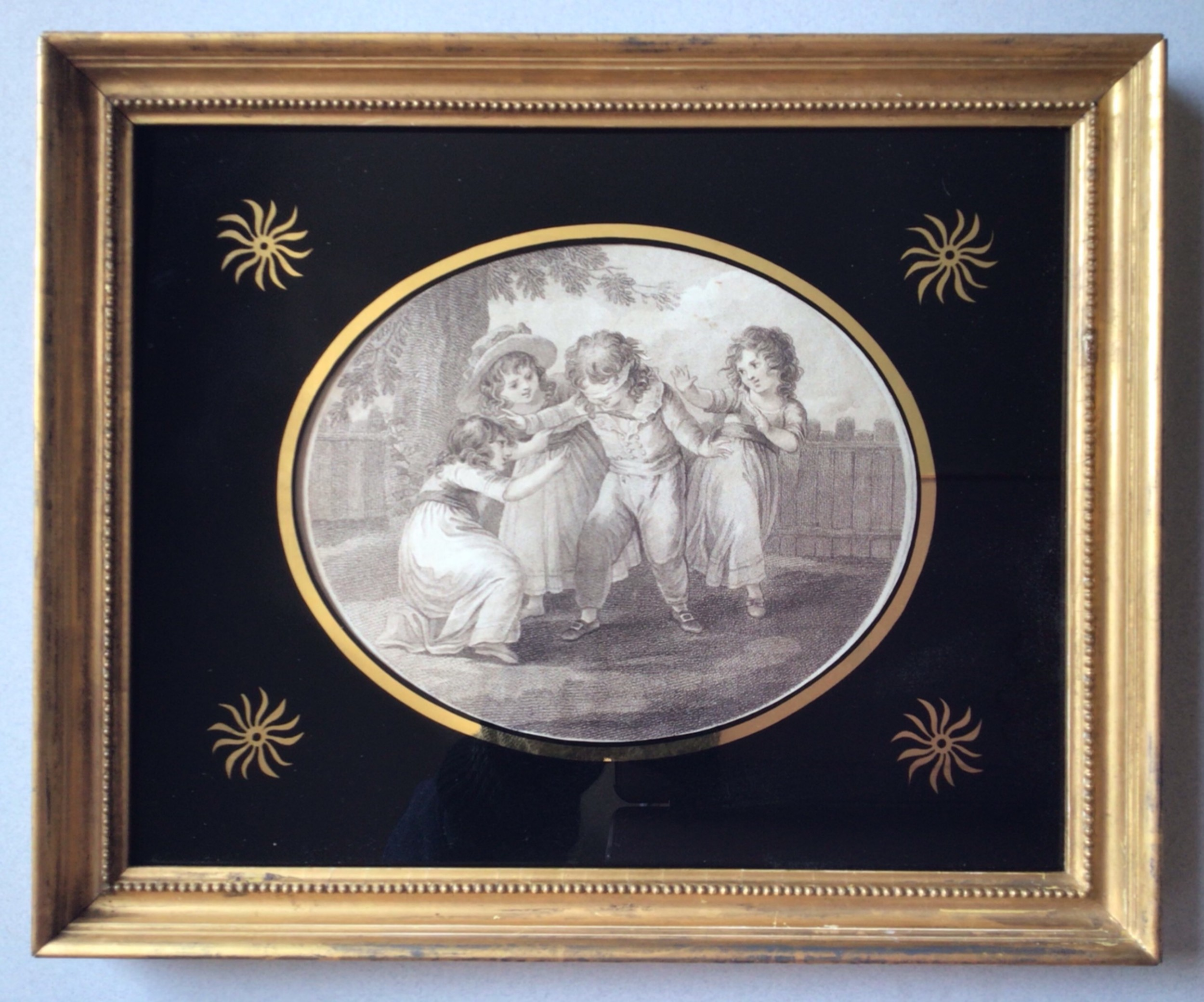 a georgian engraving print of children at play c1786