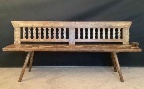 antique scandinavian bench 19th century