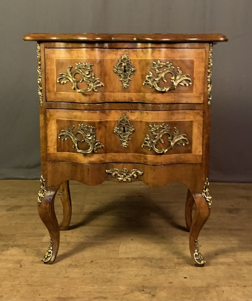19th century french baroque walnut commode