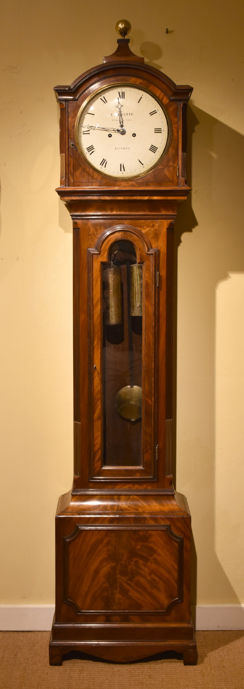 regency longcase clock by christie london