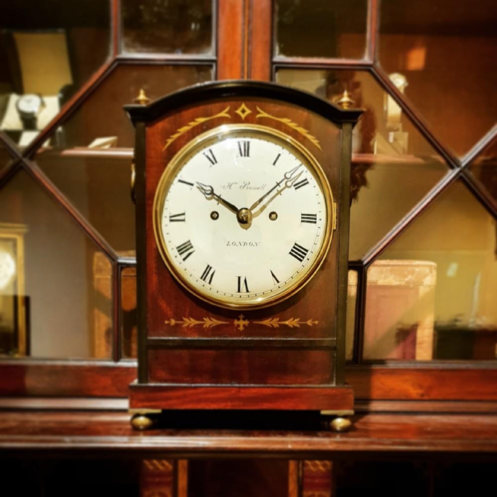 victorian fusee bracket clock