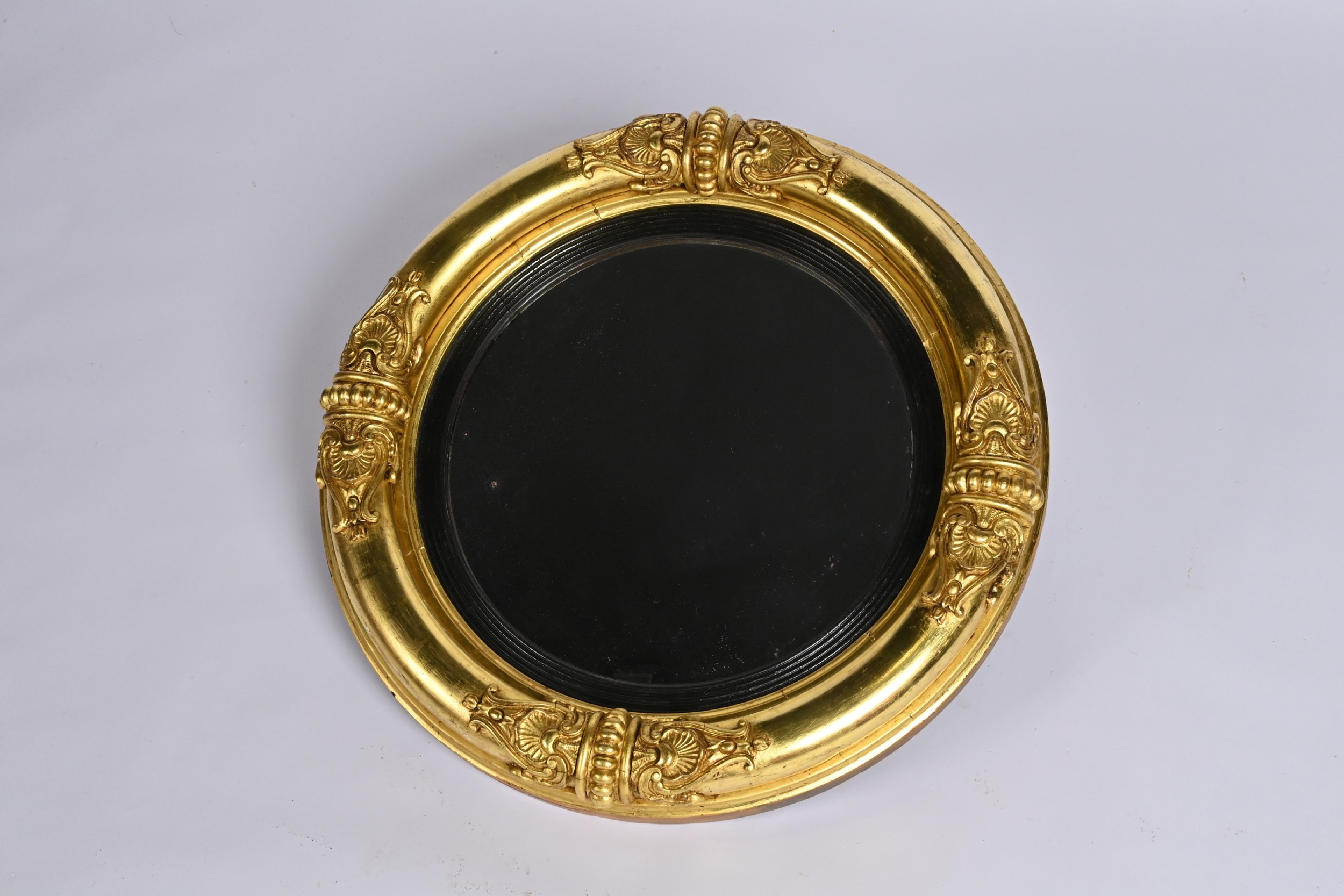 regency period chinese chippendale mirror with original convex glass
