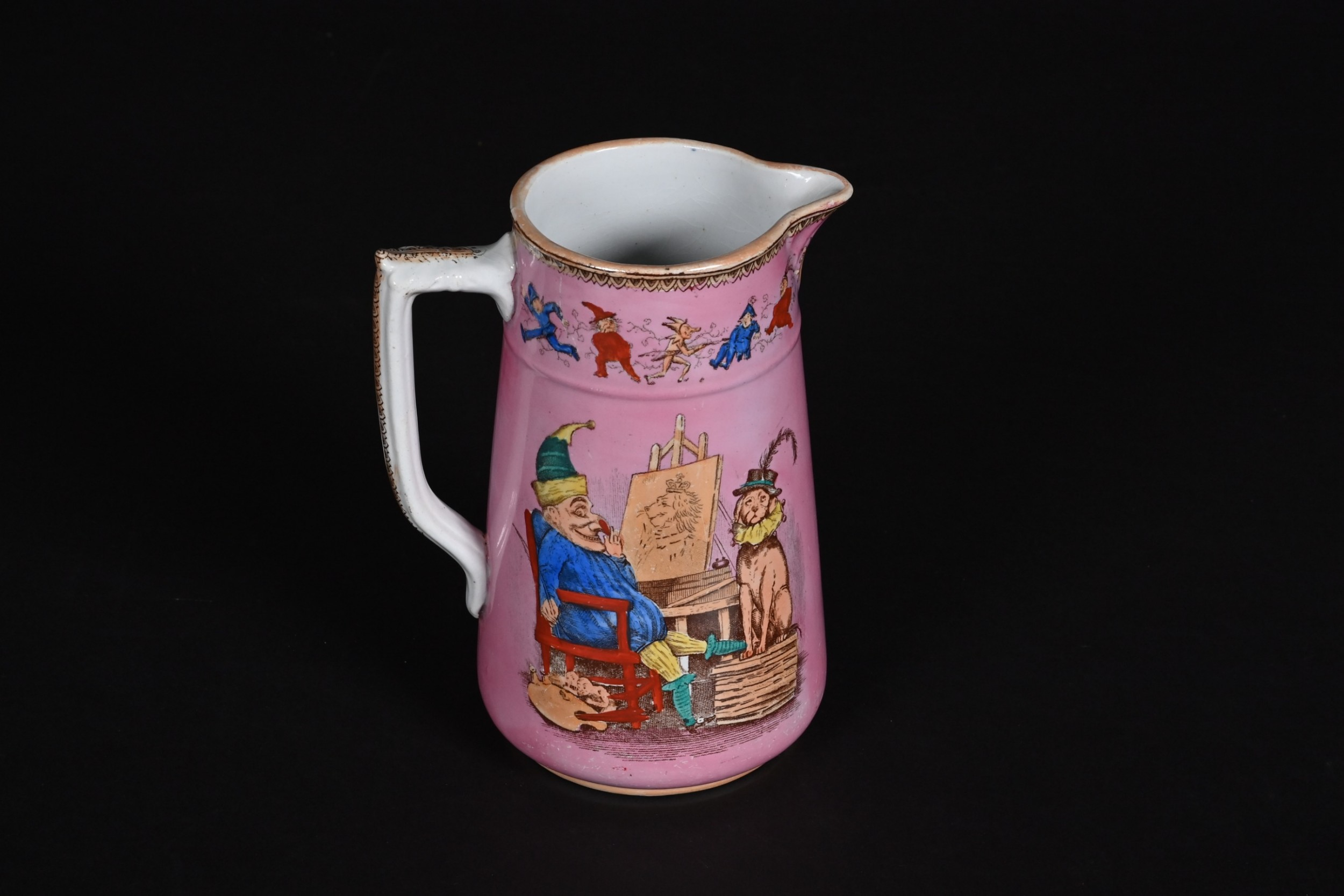 booth sons mr punch toby the dog jug