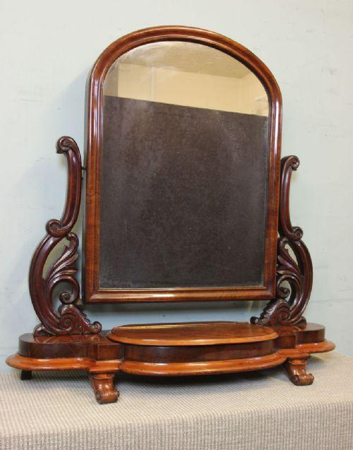 antique victorian cheval swing toilet dressing mirror