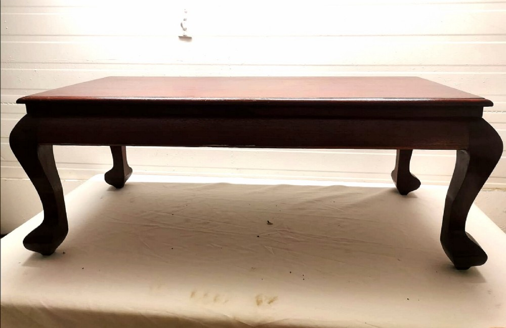 colonial style teak coffee table