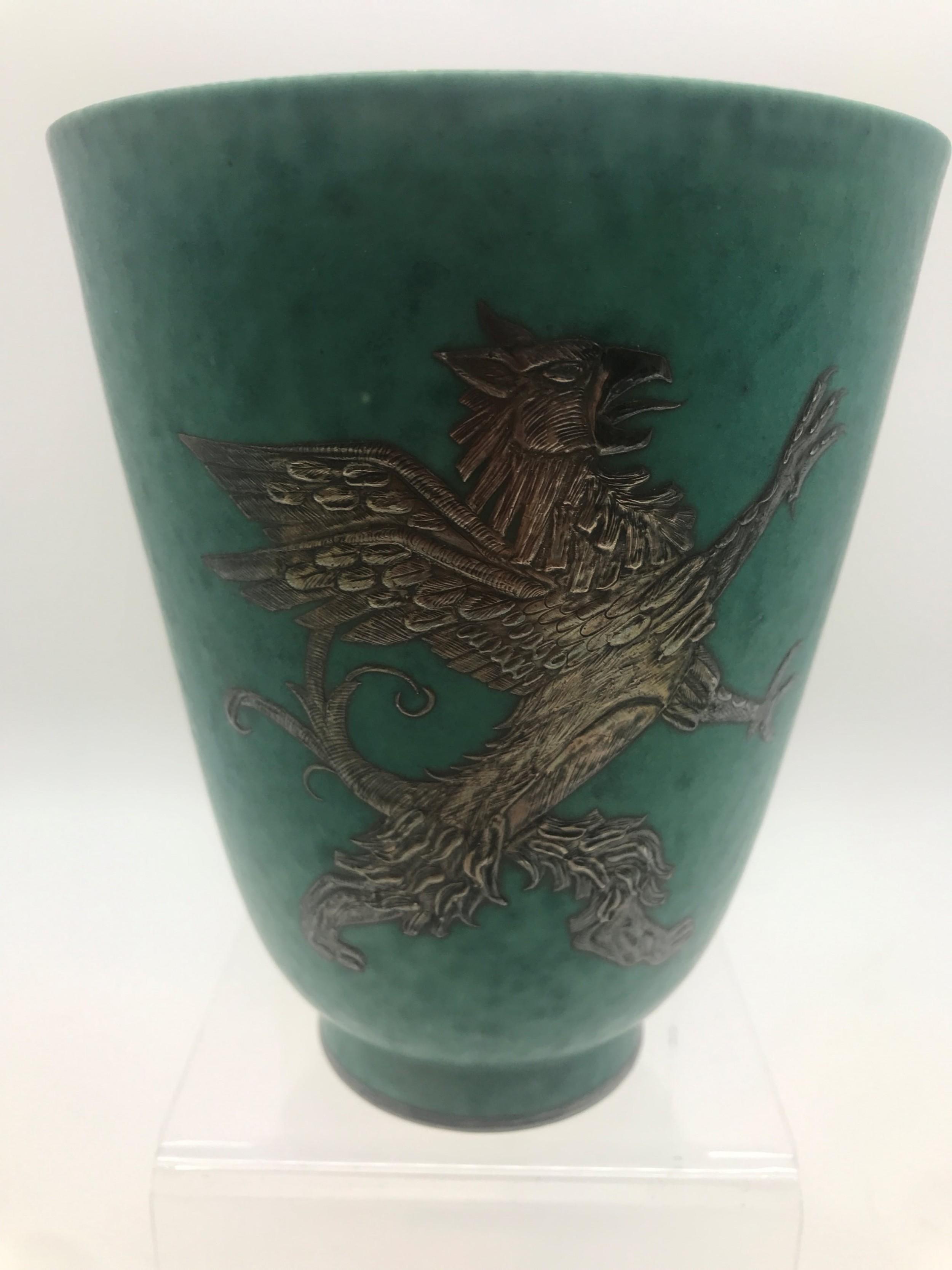 19201930's swedish ceramics gustavsberg argenta vase by wilhelm kage