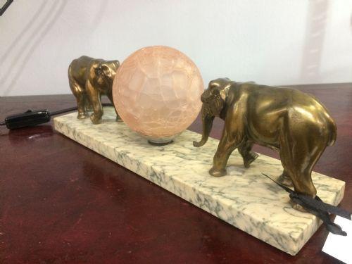 french art deco elephant lamp c1930