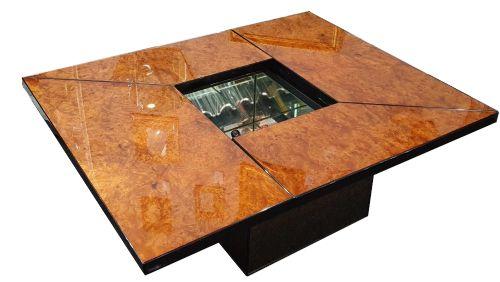 paul michel roche bobois french designer extending cocktail bar coffee table