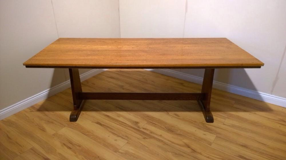 Oak Arts Crafts Dining Table C1930